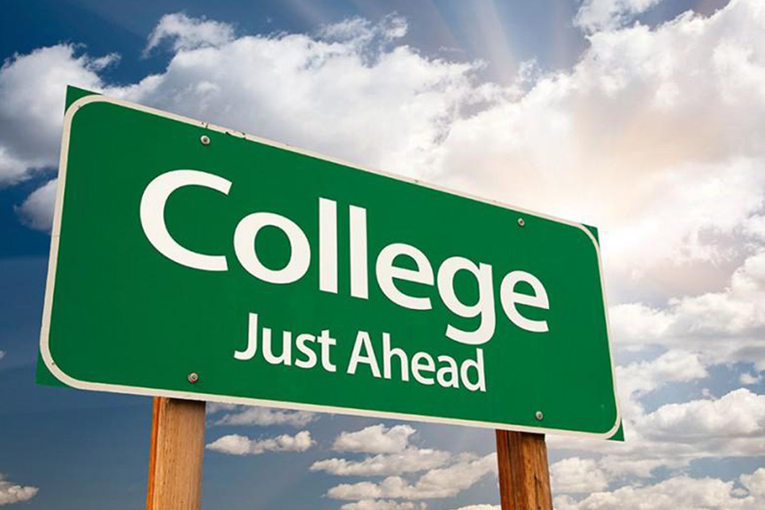 college-ahead-sign