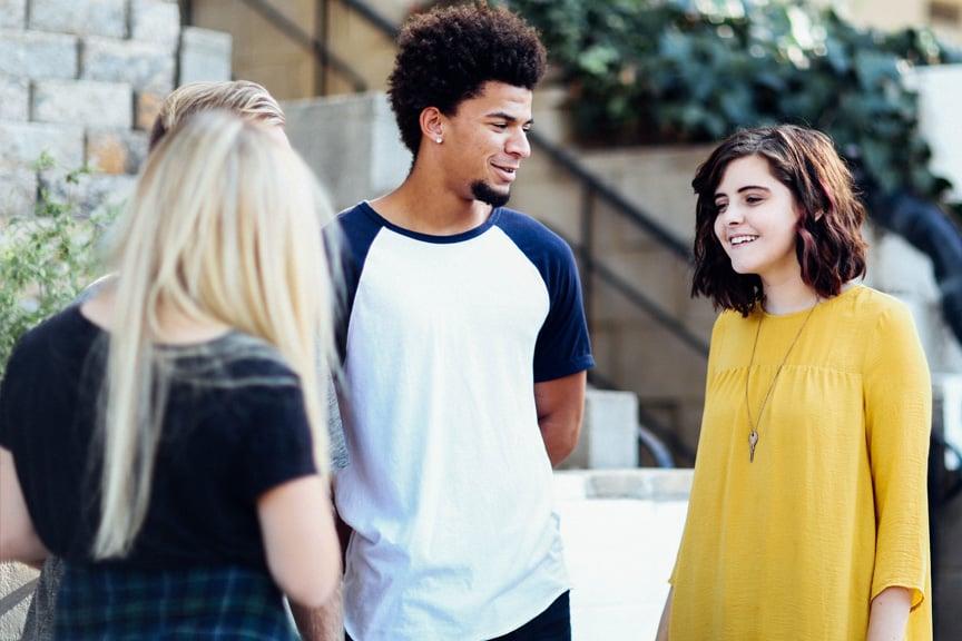 students-campus-visit